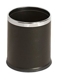 Hide-A-Bag waste paper bin- leather look