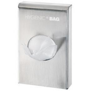 Hygiene bag dispenser brushed Chrome