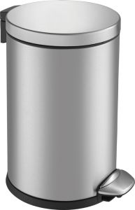 Pedal bin Luna 3 liter brused stainless steel