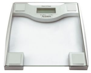 Digital scale transparent silver