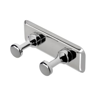 Double Towel Hook Chrome 34 mm Design