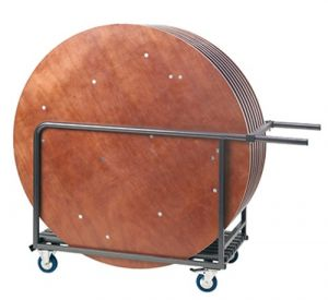 Table trolley round tables