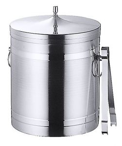 Ice bucket brushed stainless steel 1ltr