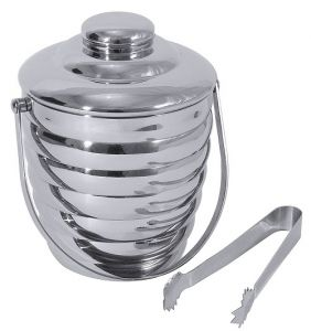 Ice bucket Stainless steel with cover 1 ltr