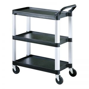 Service trolley 3 layer plastic