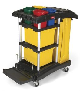 Microfibre cleaning cart