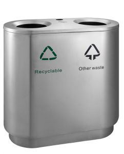 Recycling waste bin indoor 82L