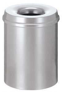 Vlamdovende papierbak 15 Liter Zilver