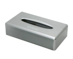 Tissuebox rechthoek Zilver