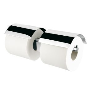 Toiletrolhouder dubbel met klep