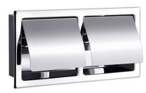 Dubbele toiletrolhouder met klep