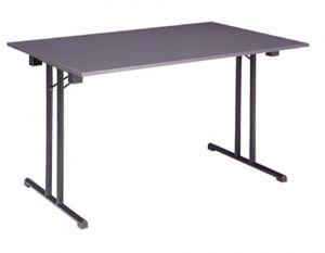 Inklapbare tafel met T onderstel