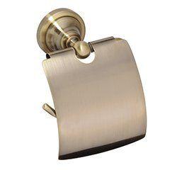 Gouden toiletrol houder met klep